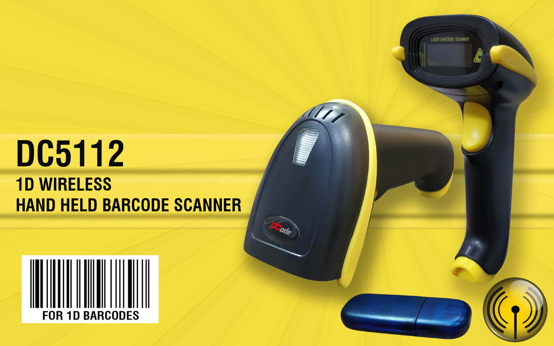 1 D Wireless Hand Hels Barcode scanner