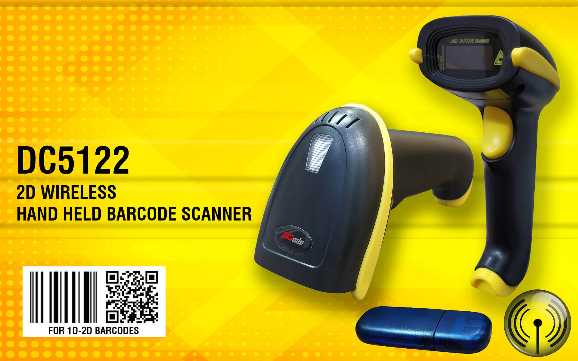 2 D Wireless Hand Held Barcode scanner